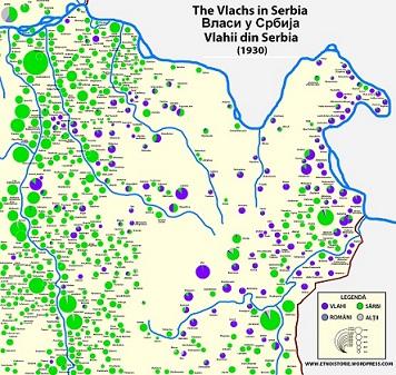 Naseljena mesta Istočne Srbije sa pretežno  vlaškim stanovništvom
