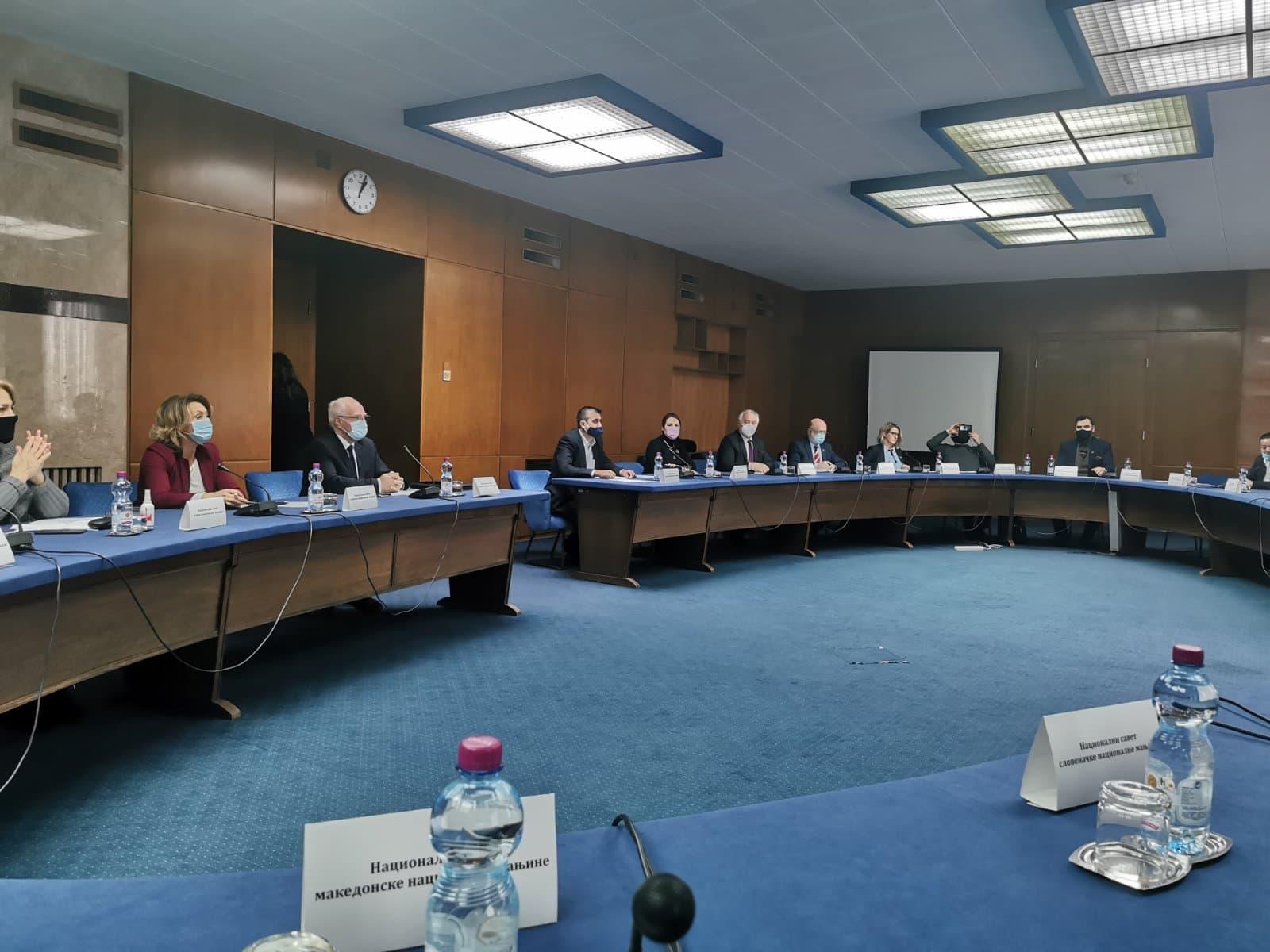 Састанак Министарке за људска и мањинска права Гордане чомић и НСВС
